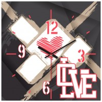 OROLOGIO X-LOVE 29x29 cm IN FOREX