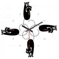 OROLOGIO CATS 29x29 cm IN FOREX