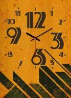 OROLOGIO VINTAGE colore arancione 30x39 cm IN LEGNO